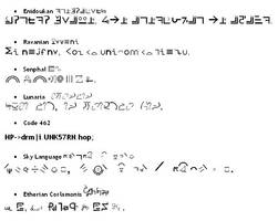 Kazaki's 7 original languages by kazaki03