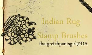 Indian Rug Stamp Brushes
