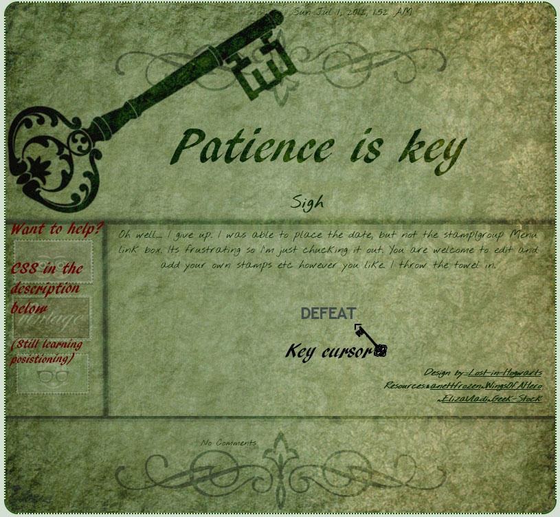 b98f1d9a8 Patience is Key Journal Skin by Lost-in-Hogwarts on DeviantArt