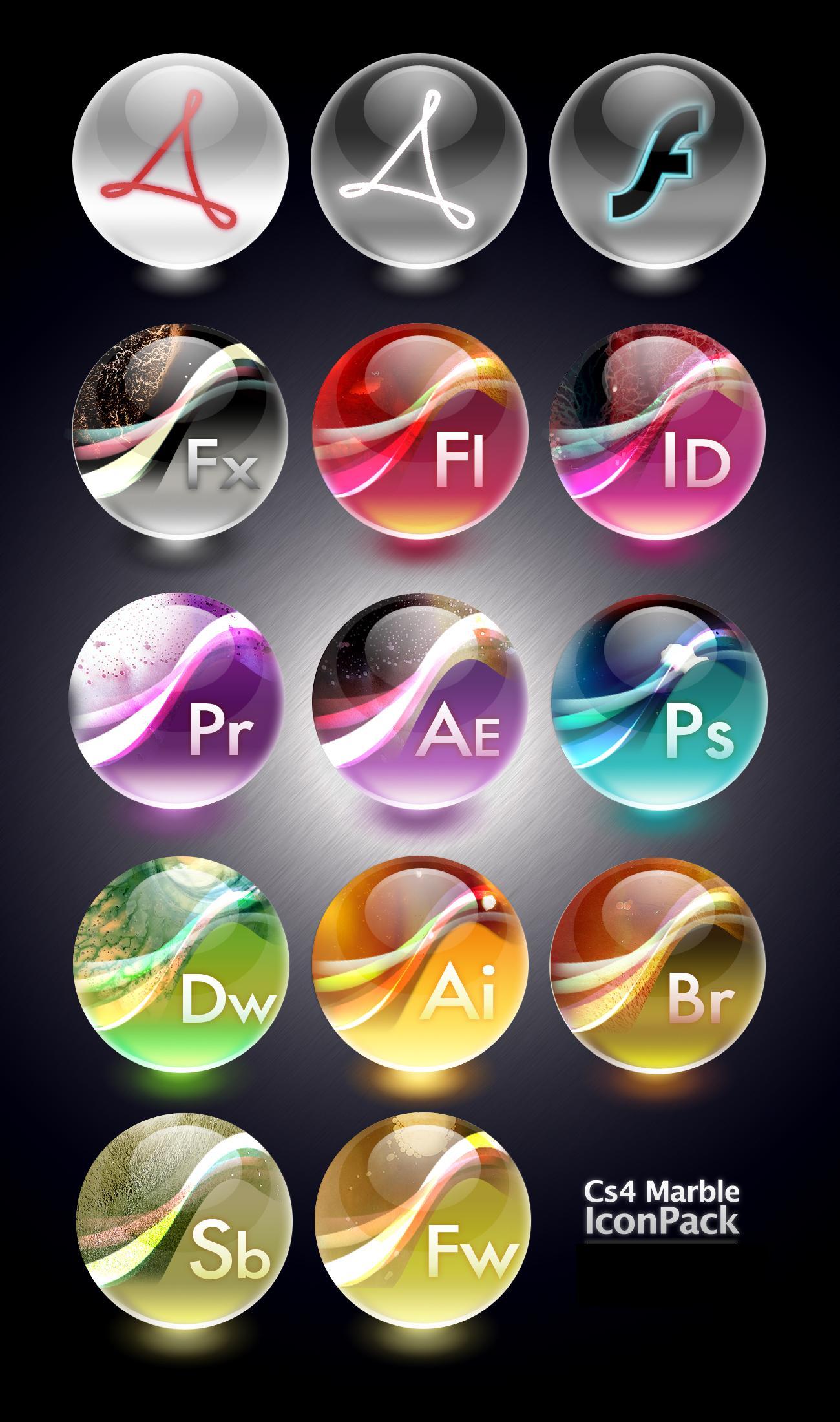 Adobe CS4 Marble Icons