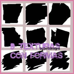 9 Texturas Con formas set