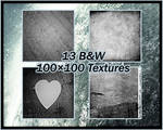 13 Black and White Textures
