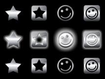 Stars And Smiley Orbs by leepat0302
