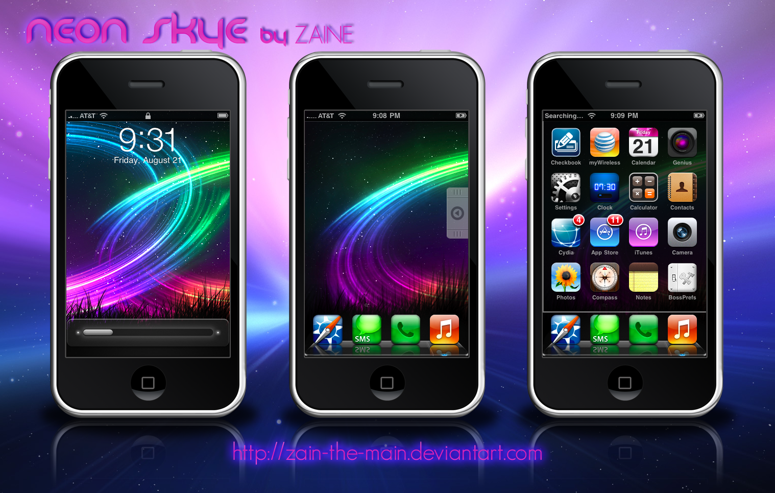 Neon Skye - iPhone Theme