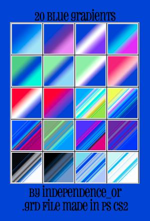 Blue gradients by kiya71677