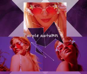 Purple autumn PSD by love1Dhatebitch