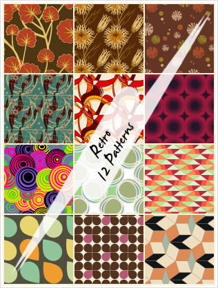 Retro Patterns by cazcastalla