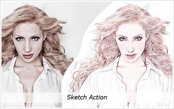 Sketch Action by cazcastalla