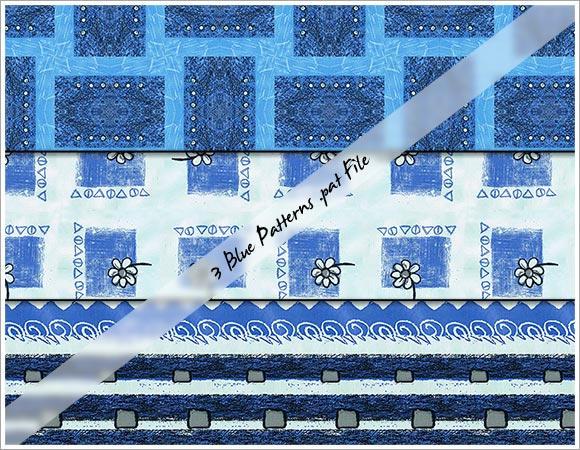 Blue Patterns by cazcastalla