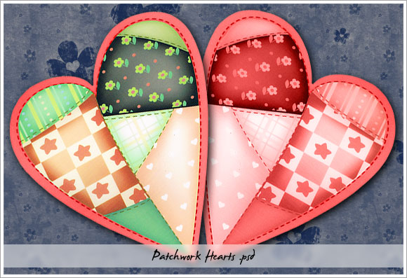 Patchwork Hearts