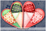 Patchwork Hearts by cazcastalla