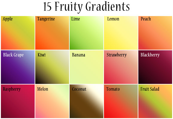 Fruity Gradients by cazcastalla