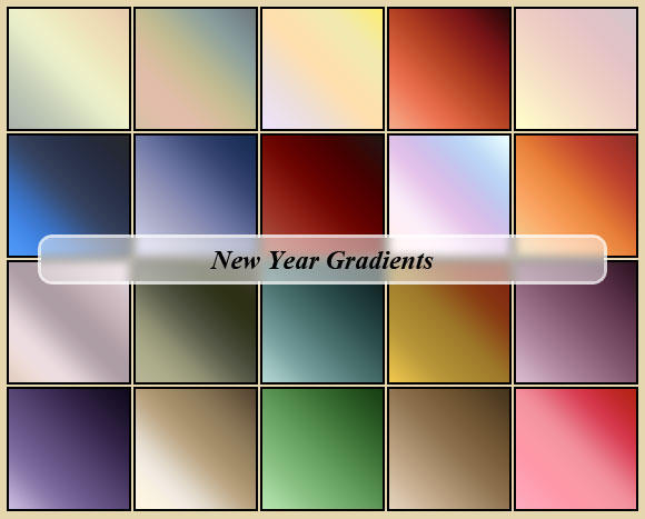 New Year Gradients by cazcastalla