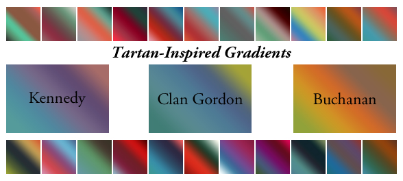 Tartan-Inspired Gradients by cazcastalla