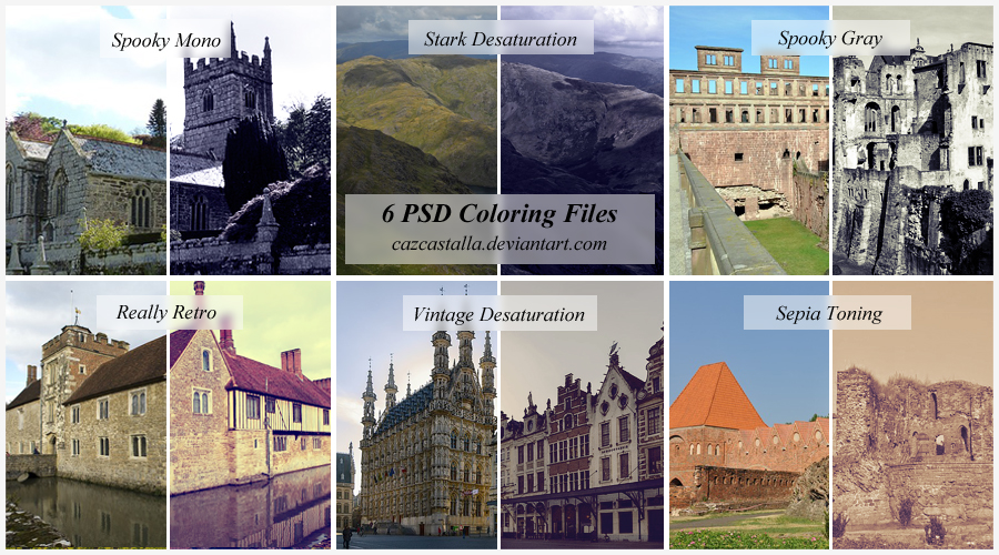 PSD Coloring Set 1 by cazcastalla