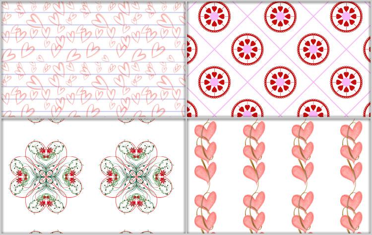 Valentine Patterns by cazcastalla
