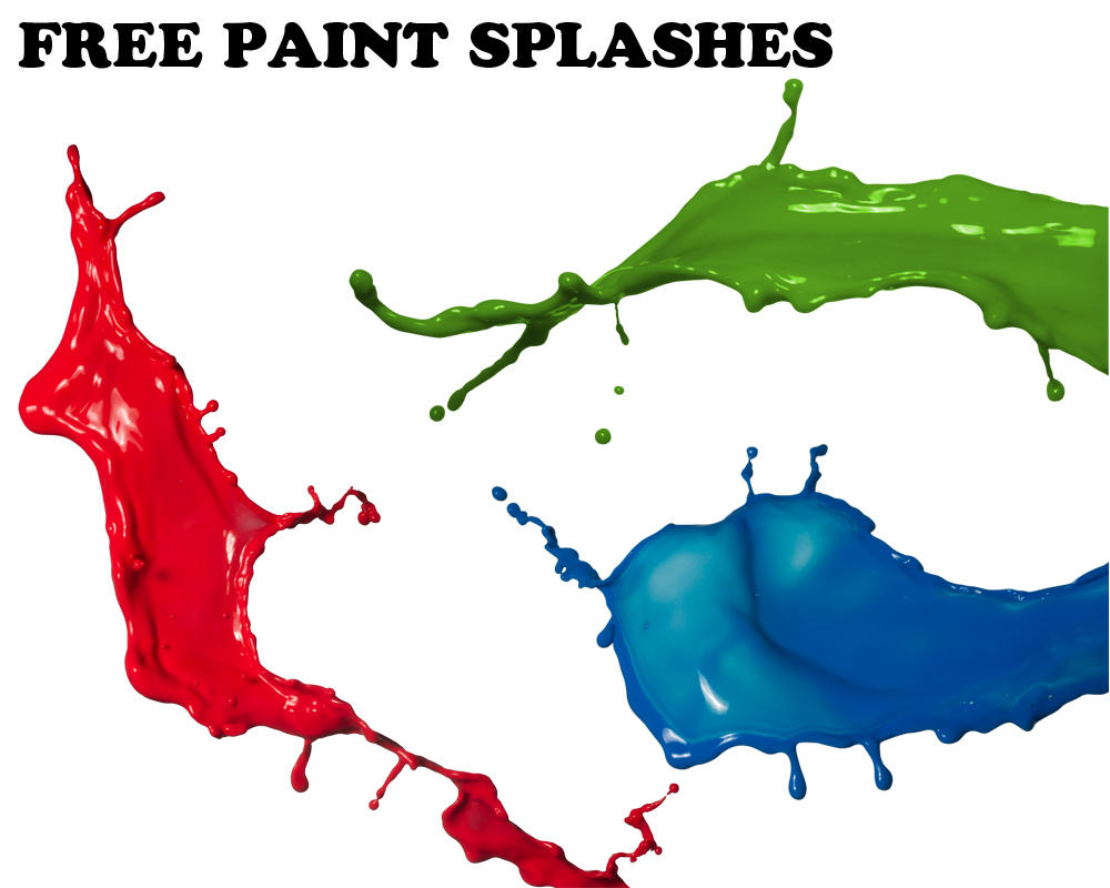 Free paint splashes by...