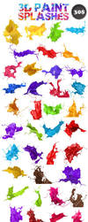 3D paint splash mega pack  *NEW HUGE UPDATE by genotas
