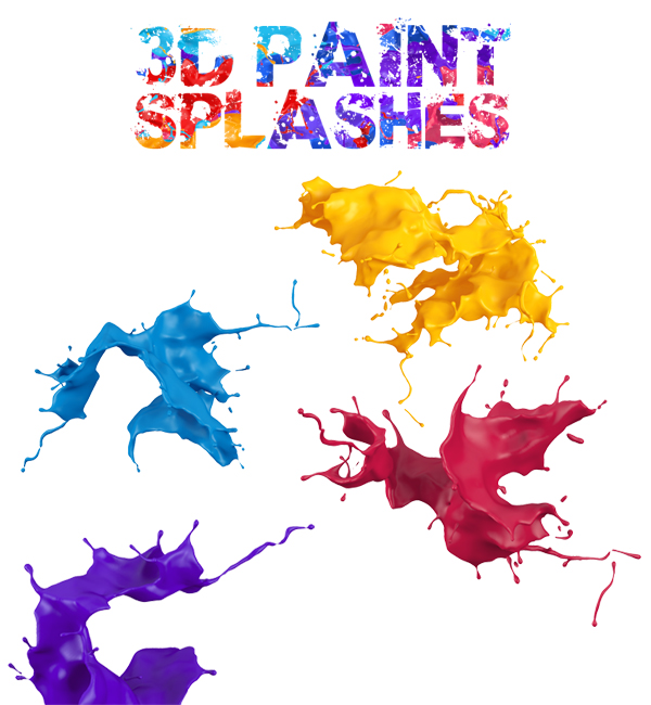 3D paint splash pack for free