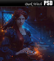Dark With PSD by Nikulina-Helena