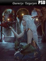 Daenerys Targaryen PSD by Nikulina-Helena