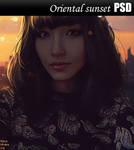 Oriental sunset PSD