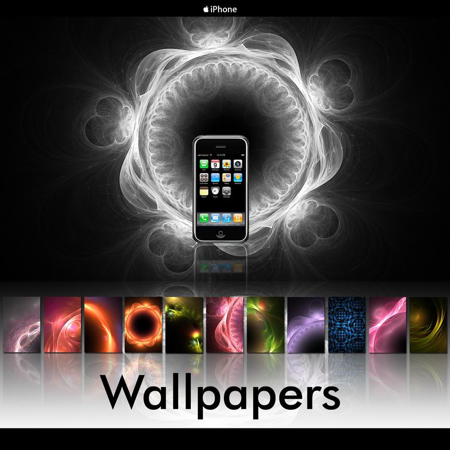 iPhone Fractals Pack 001 by bureau22