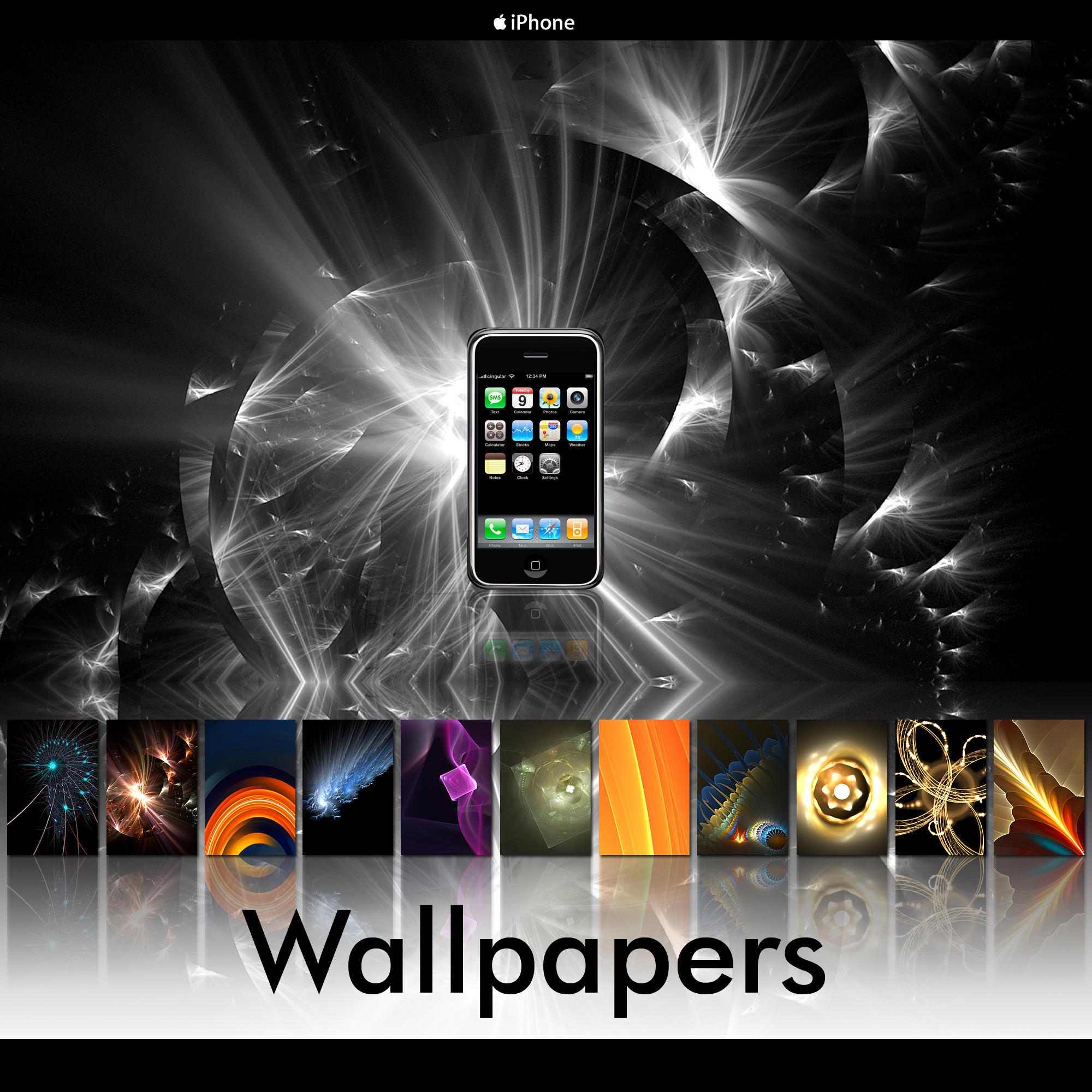 iPhone Fractals Pack 002 by bureau22