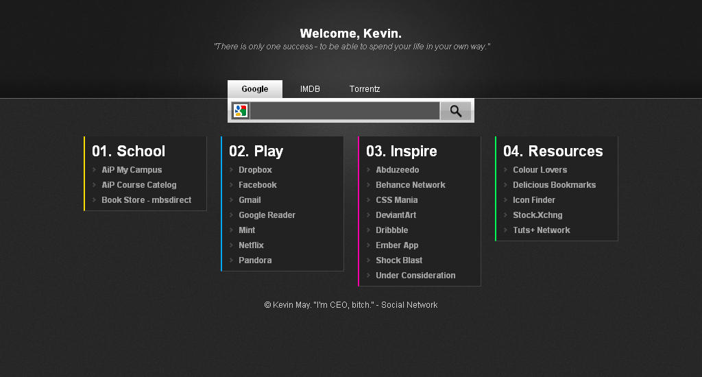 KMay Start Page by DeFined04