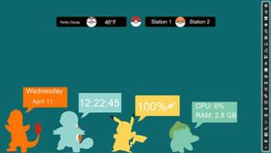 Pokemon rainmeter