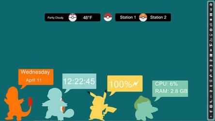 Pokemon rainmeter by Dswizle