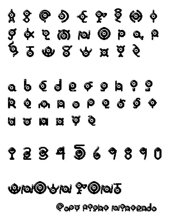 Unown Font 112584761