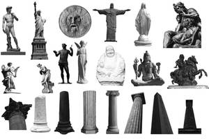 Statues and Columns brushes by Demonkampf-stock