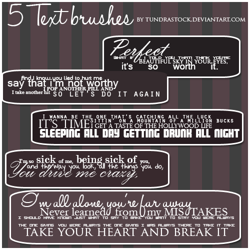 Adelitas Way Text brushes by TundraStock