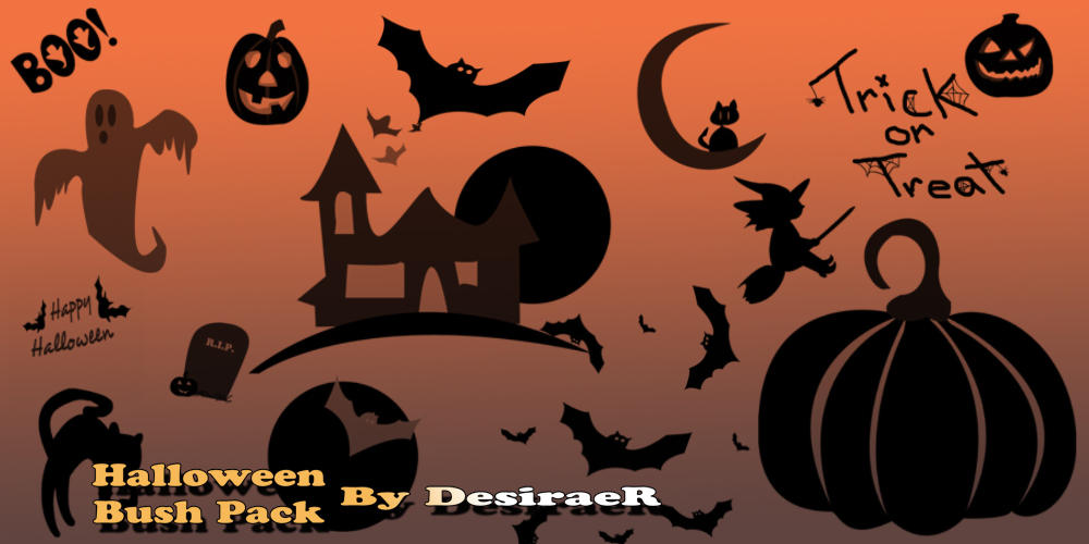 Halloween Brush Pack by DesiraeR