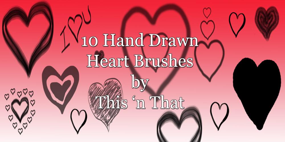 Hand Drawn Heart Brushes