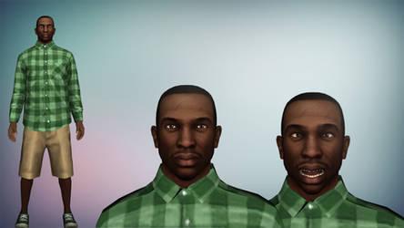 GTA V CJ Grove Street Gang Clothes XPS/XNalara