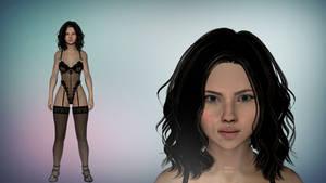 Skyrim Scarlett Johansson XPS/XNalara by diegoforfun