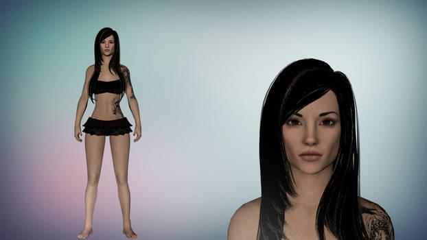 Skyrim Moniko The Tattoed Beauty