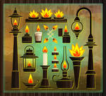 Flame Or Fire Vessels