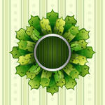 Abstract Stylized Leaves Frame