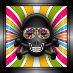 Skull With Psychedelic Shades