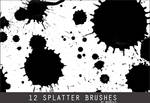 12 Splatter Photoshop Brushes