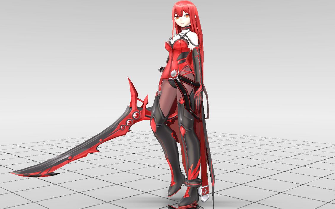 [MMD-Elsword] Elesis Crimson Avenger DOWNLOAD! by Darknessmagician