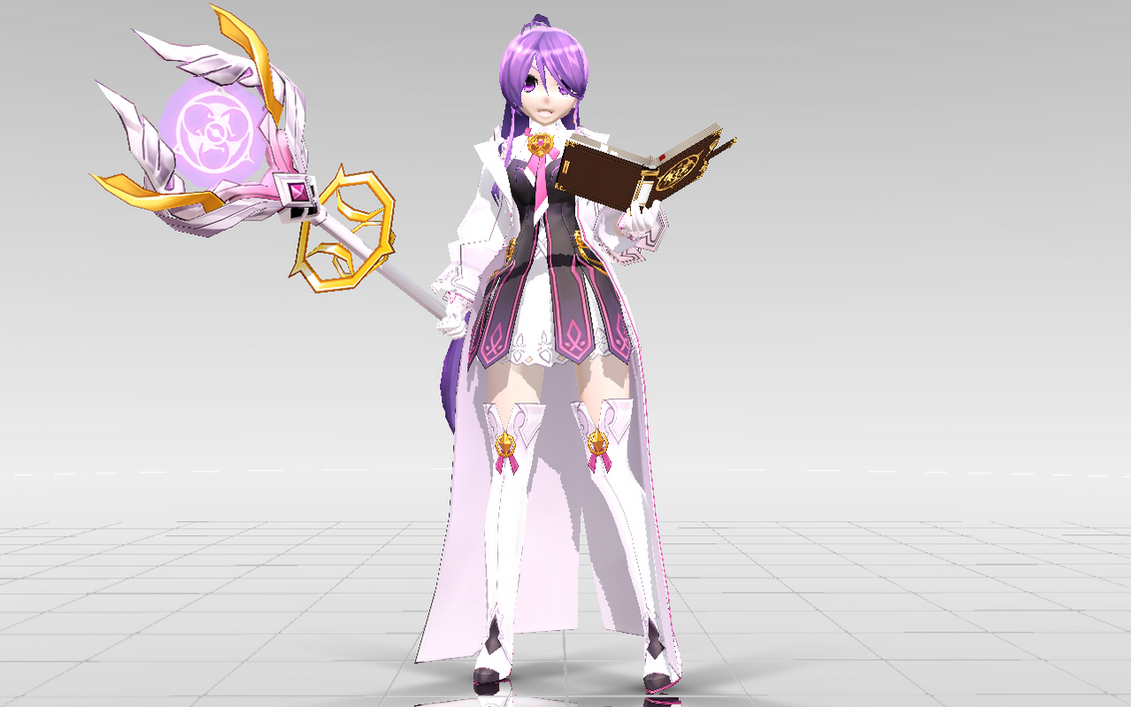 [MMD-Elsword] Aisha Aether Sage DOWNLOAD! by Darknessmagician