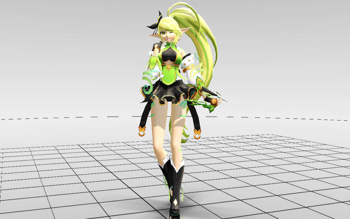 MMD-Elsword] Rena Anemos DOWNLOAD! by Darknessmagician on