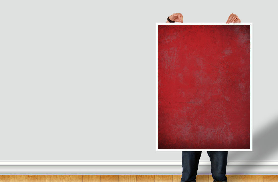Man Holding Poster - PSD DOWNLOAD by cm96
