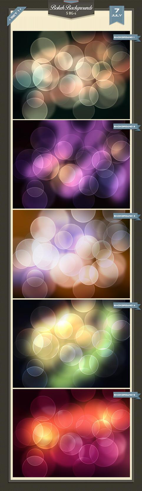Bokeh Backgrounds 1 by baturaN