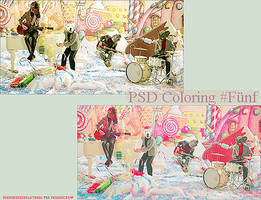 PSD Coloring Fuenf by overobsessedwithyou