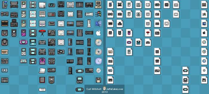 Pixel Gaming Machine Icons